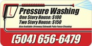 Pressure Wash (flat rate price-1 story house $100 2 story house $150)